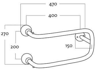 Rej Design Smart BTU 402 Pyyhekuivain Mittakuva