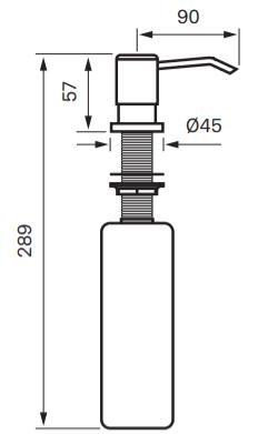 Tapwell BI228 Astianpesuainepumppu -mittakuva