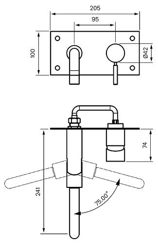 Tapwell BOX180 Upotettava Keittiöhana Piirustus