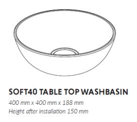 Woodio Soft 40 mittakuva (asennus-asennuksen jälkeen)