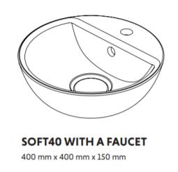 Woodio Soft40 Malja-Allas hanapaikalla mitat