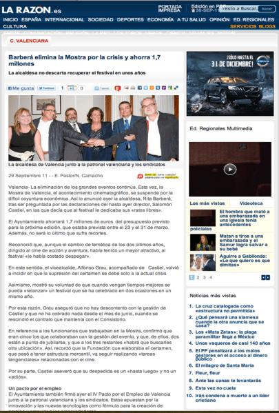 Versión digital del diario 'La Razón'
