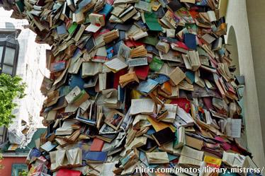 Cascade of books