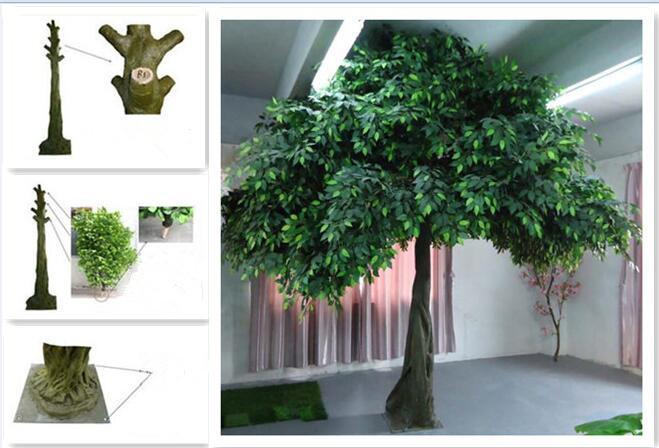 UVG GRE06 Golden Indoor Home Decorative Artificial Tree