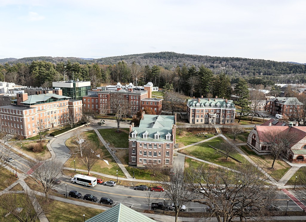 The east side of Dartmouth College's campus is seen from the Baker Tower on Thursday, Nov. 30, 2017, at Dartmouth College in Hanover, N.H. The college currently is working on developing a single, comprehensive policy to deal with sexual misconduct. (Valley News - Charles Hatcher) Copyright Valley News. May not be reprinted or used online without permission. Send requests to permission@vnews.com.