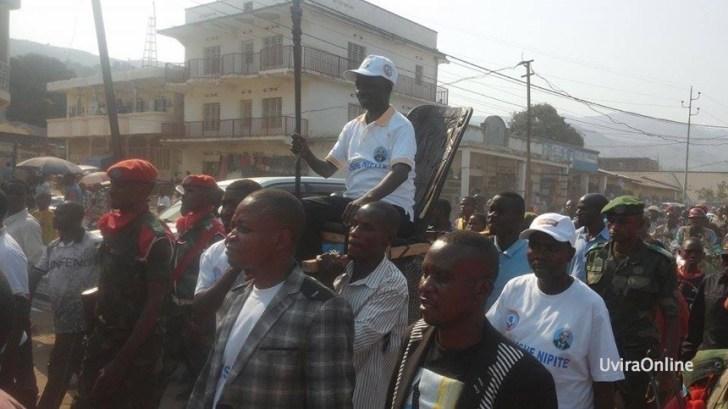 Entrée triomphale de Bitakwira Justinen tant que chef de l'Opposition Citoyenne