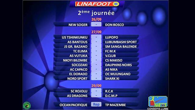 Football-RDC: Division I, Rojolu-RCK et Dragons-DCMP reportés