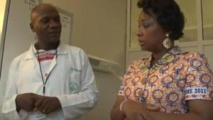 Olive Kabila visite hopital