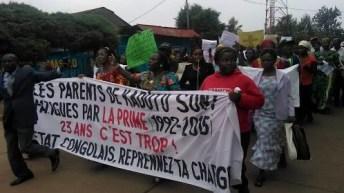 Bukavu-RDC: Protestation contre la prise en charge des enseignants.