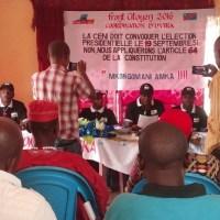 Uvira-RDC: Conférence de presse organisée par le Front Citoyen 2016