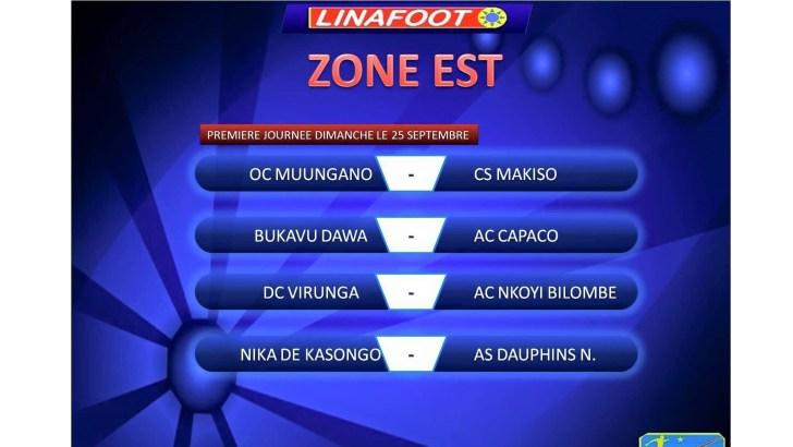 LINAFOOT : OC Muungano-CS Makiso et OC Bukavu Dawa-AC Capaco Dimanche au 22ème Championnat de la Linafoot