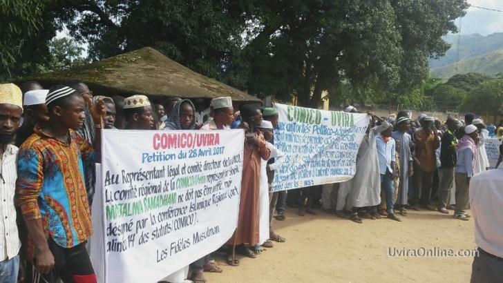 Uvira-RDC: Manifestation de musulmans pour confirmer  Mwamba Hassan Hamza comme leur seul répresentant