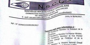 Communiqué: Appel à la ville morte ce lundi 12 juin 2017 à Uvira