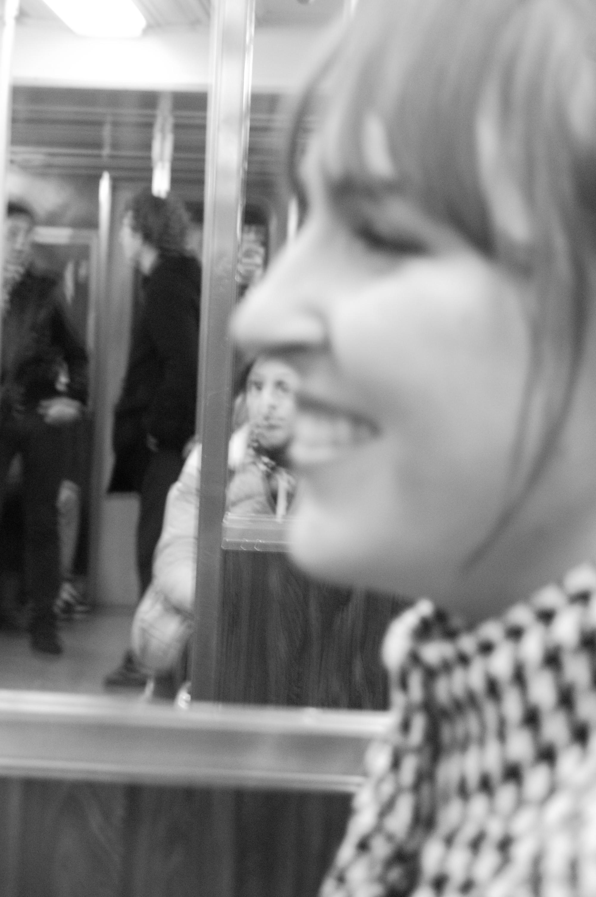 Barlett on the train