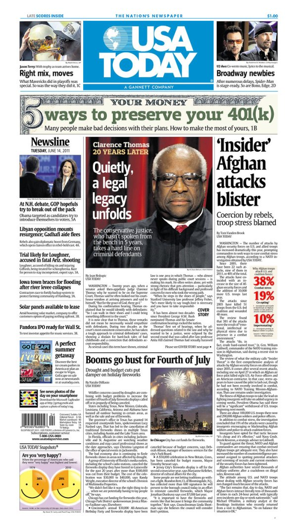 Cynic Editor lands on USA Today Page 1   The Vermont ...