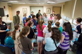Girls Science Discovery Day featured a visit to the pathology lab.