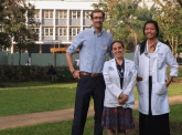 Ian McDaniels '16, Tamar Goldberg '15 and Annie Huang, M.D. '14