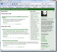 Krehbiel's Korner on Firefox 3