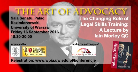 "Iain Morley QC lecture ""The Art of Advocacy"""