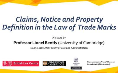 Lecture by professor Lionel Bently