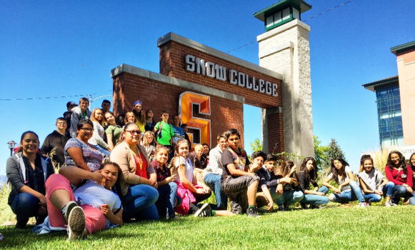 Kearns Junior High Students during our trip to Snow College
