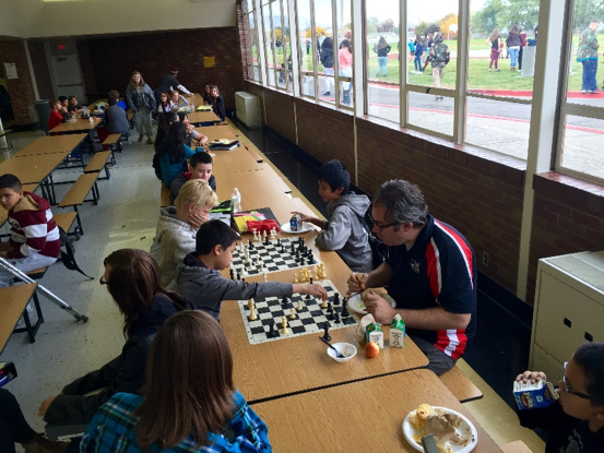 Brandon Kerby, LIA teacher, dedicates his lunch time to play chess with our students.