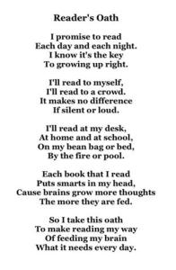 Readers Oath