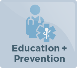education and prevention icon