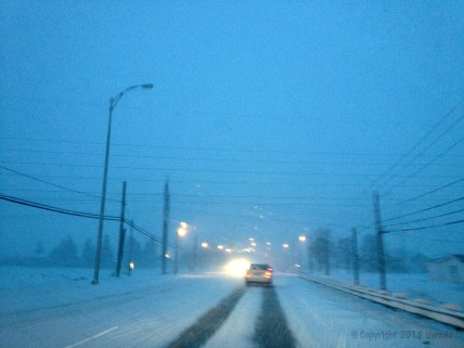 Careful now: Driving in the blustery snowstorm