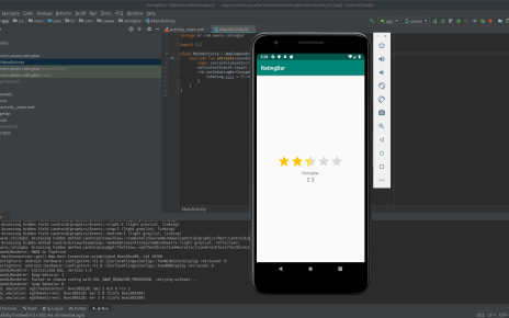 Como usar RatingBar no Android Studio