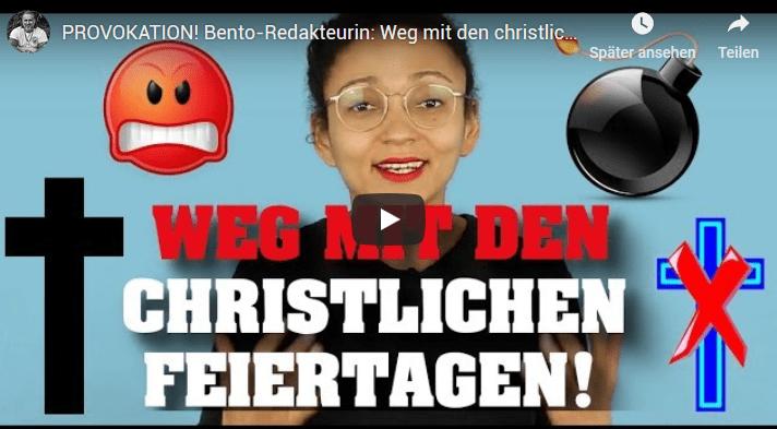 PROVOKATION! Bento-Redakteurin: Weg mit den christlichen Feiertagen!