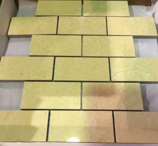 "Crema Luna 2""x4"" Mosaic - Wall Tile / Backsplash"