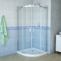 "Tali 36"" Semi-Round Shower Enclosure"
