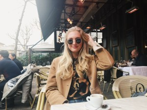 Kristin at a Cafe