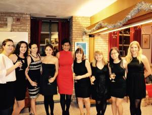 Rachel, second from left, at the French House Gala