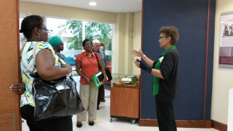 Some of the MAC conference participants at the UWI Museum.