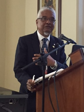 VC Harris remarks on his predecessor, Sir Arthur Lewis, at a UWI Museum-SALISES panel in April 2015