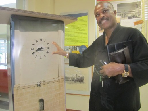 Sir Hilary Beckles at an exhibition in the UWI Museum, May 2013, on Cave Hill @ 50