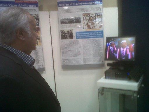 Sir Shridath Ramphal in the UWI Museum