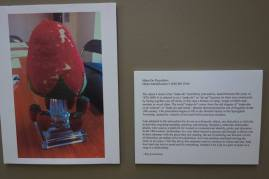 Here is Kaylyn's introduction to her work, with a photograph of the pincushion that was her inspiration.