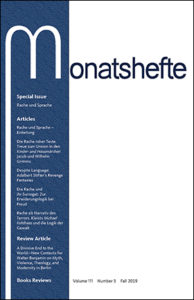 Monatshefte Vol 111.3 Cover
