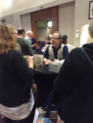 "David B. Williams, author of ""Too High and Too Steep,"" speaks to booksellers at PNBA."