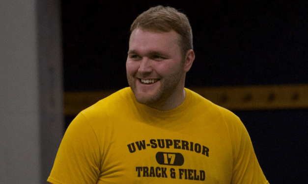 Pillath sets school weight-throw record while Torgeson sets career best; UWS men win three events