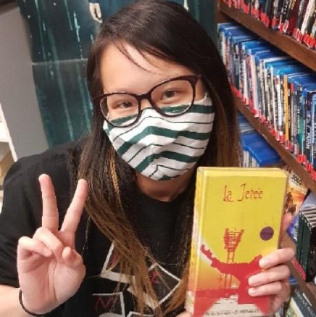 Rachel Prost wearing a mask