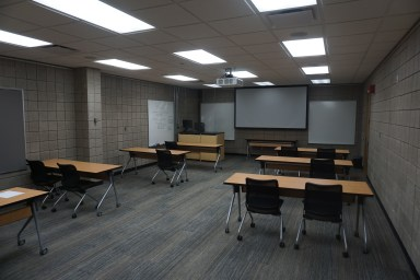 The former 3rd floor gallery is now a classroom space.