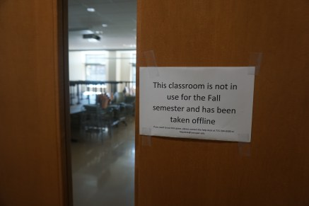 This classroom is not in use for the Fall semester and has been taken offline
