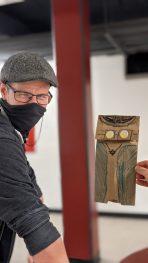 Paper bag portrait of Josh Carlise