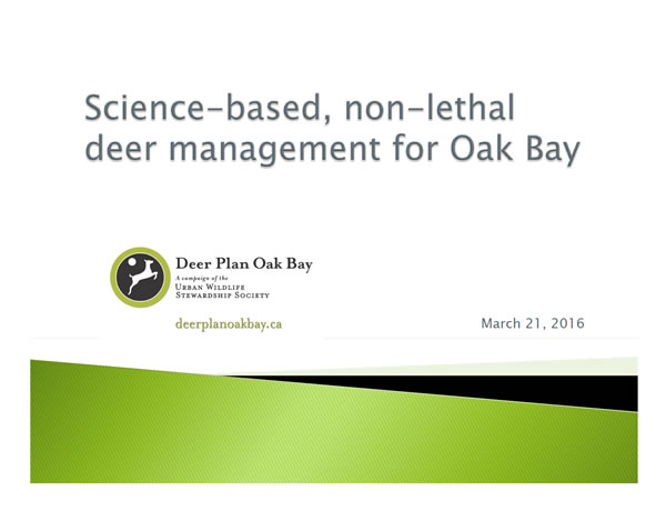 Final Presentation to Oak Bay Council