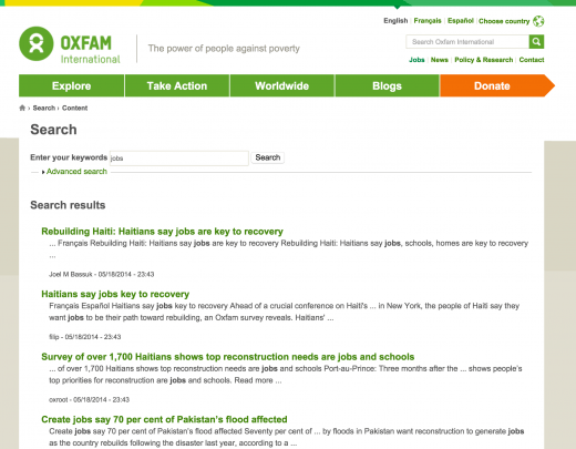 Oxfam, SERP