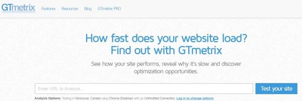 Tools - GTmetrix